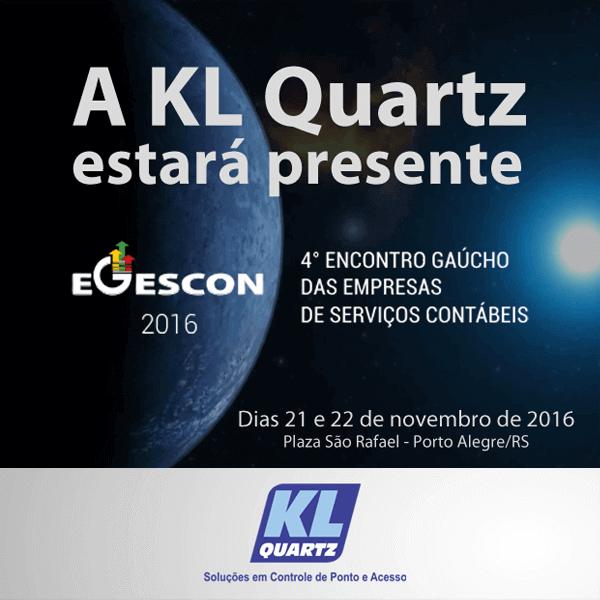 A KL Quartz estará presente no 4º EGESCON