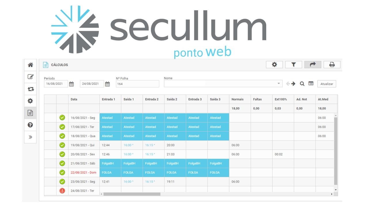 SOFTWARE DE TRATAMENTO DE PONTO  SECULLUM PONTO WEB